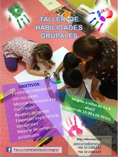 Taller de Habilidades Grupales para niños entre 4 y 6 años
